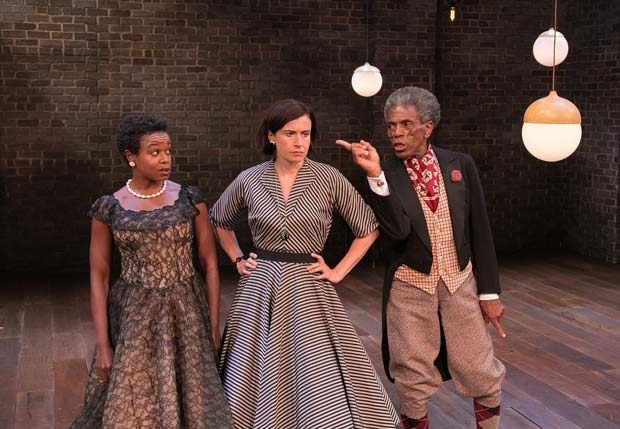 <p>Quincy Tyler Bernstine, Hannah Cabell, and André De Shields share a scene.</p><br />(© Lenny Stucker)