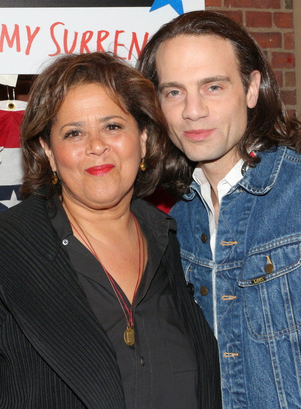 <p>Anna Deavere Smith and Jordan Roth pose for a photo.</p><br />(© David Gordon)