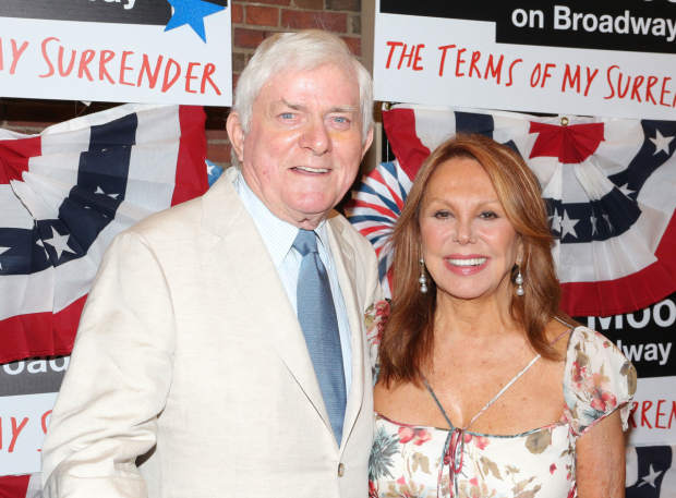 <p>Phil Donahue and Marlo Thomas arrive for the production&#39&#x3B;s opening night.</p><br />(© David Gordon)