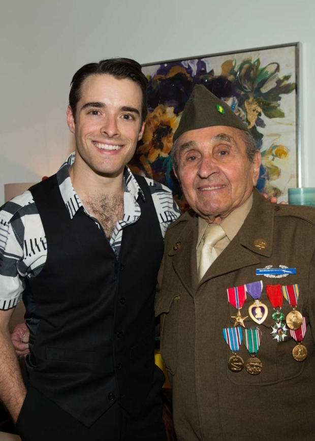 <p>Corey Cott and Luke Gasparre grab a photo after the show.</p><br />(© Allison Stock)