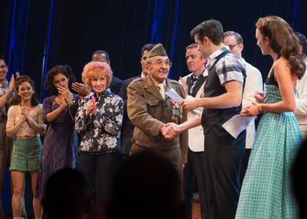 <p>Luke Gasparre and Corey Cott shake hands.</p><br />(© Allison Stock)