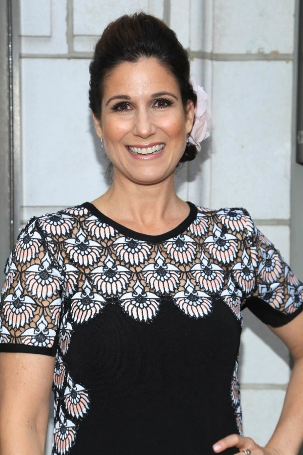 <p>Two-time Tony nominee Stephanie J. Block flashed a big smile for the cameras.</p><br />(© Tricia Baron)
