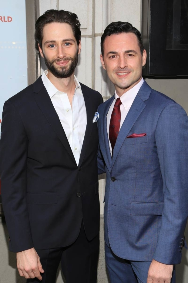 <p>Daniel Rowan and Max von Essen walk the red carpet.</p><br />(© Tricia Baron)