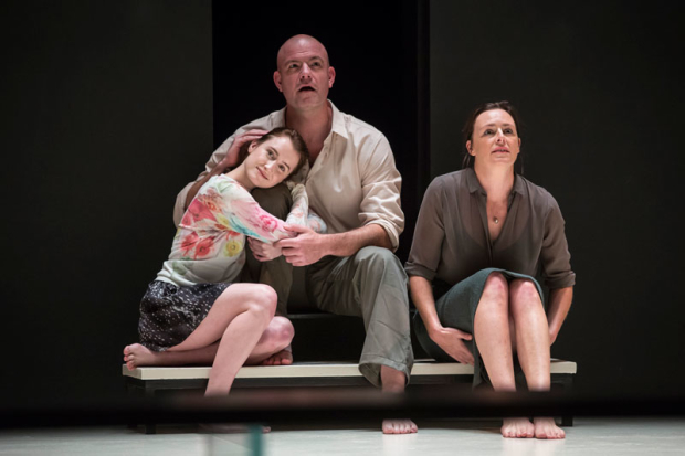<p>Catherine Combs, Ian Bedford, and Andrus Nichols share a scene together.</p><br />(photo provided by the production)