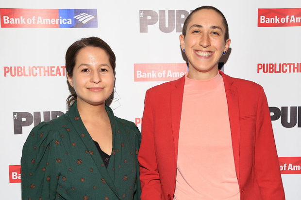 <p>Public Theater collaborators Shaina Taub and Jo Lampert showed their support.</p><br />(© Tricia Baron)