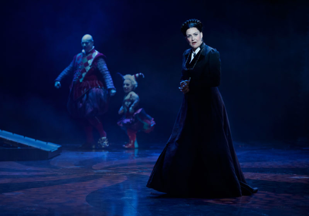 <p>Karen Mason (right) stars as Madame Giry.</p><br />(© Joan Marcus)