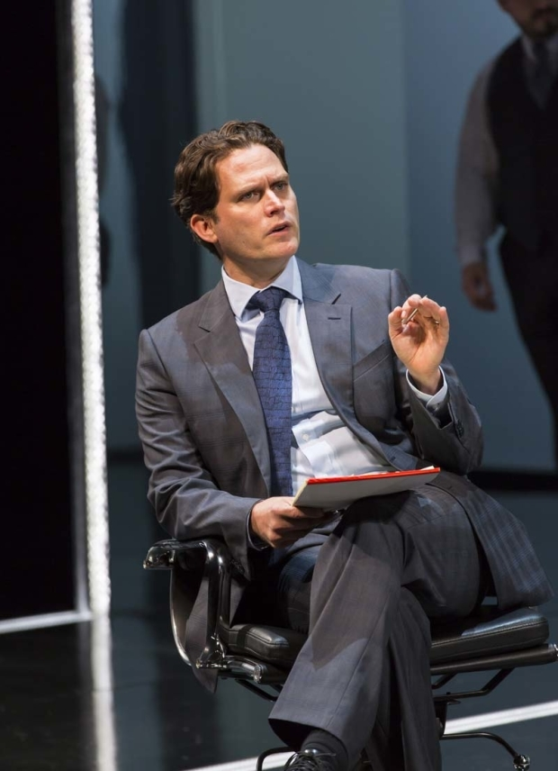 <p>Steven Pasquale as Robert Merkin in Lincoln Center Theater&#39&#x3B;s production of <em>Junk</em>.</p><br />(© T. Charles Erickson)
