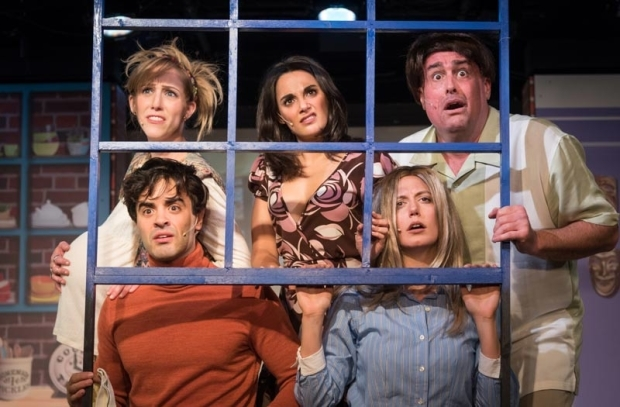<p>Performances of <em>Friends! The Musical Parody</em> continue through December 31.</p><br />(© Russ Rowland)