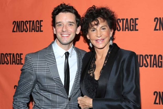 <p>Costars Michael Urie and Mercedes Ruehl celebrate opening night.</p><br />(© Tricia Baron)