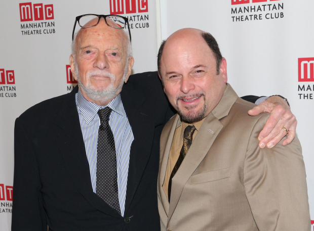 <p>Hal Prince catches up with Jason Alexander, who appeared in <em>Merrily We Roll Along</em> and currently stars in MTC&#39&#x3B;s <em>The Portuguese Kid</em>.</p><br />(© David Gordon)