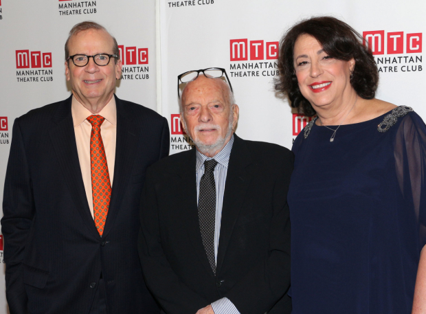 <p>Harold Prince celebrates his honor with Manhattan Theatre Club head honchos Barry Grove and Lynne Meadow.</p><br />(© David Gordon)