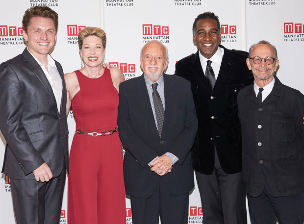 <p>Broadway luminaries Jason Danieley, Marin Mazzie, Norm Lewis, and Joel Grey fete Harold Prince at Manhattan Theatre Club&#39&#x3B;s 2017 gala.</p><br />(© Richard Mitchell)