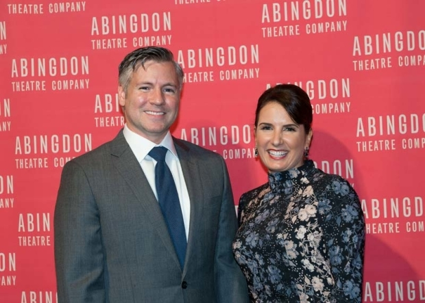 <p>Abingdon Theatre Company artistic director Tony Speciale and producing director Denise Dickens celebrated the occasion.</p><br />(© Allison Stock)