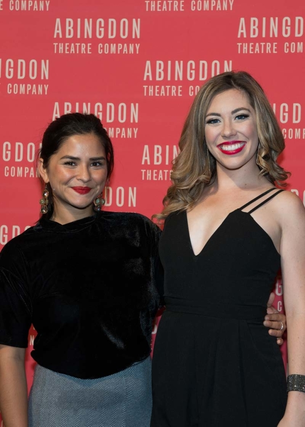 <p>Meghan Legaspi and Lily Kaufmann stop for a photo.</p><br />(© Allison Stock)