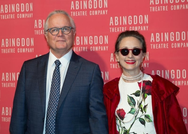 <p>Author Chris Calkins came to support Bebe Neuwirth.</p><br />(© Allison Stock)