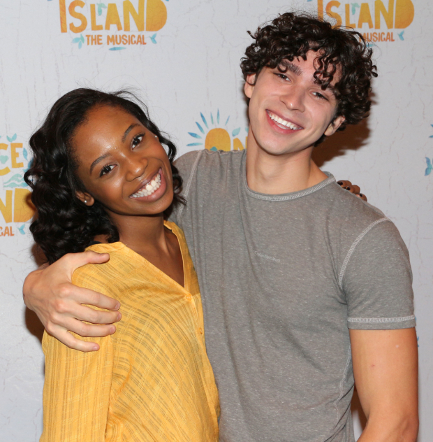 <p>Hailey Kilgore and Isaac Powell make their Broadway debuts in <em>Once on This Island</em>.</p><br />(© David Gordon)