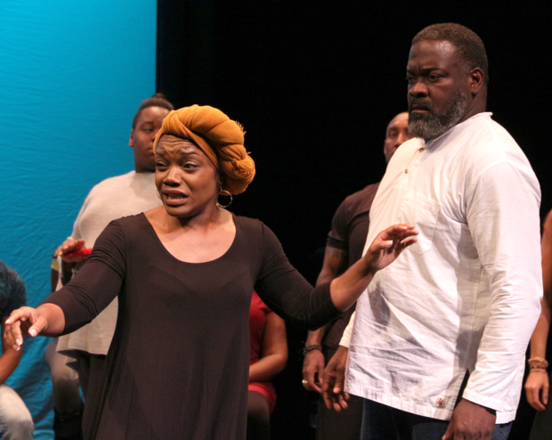 <p>Kenita R. Miller and Phillip Boykin play Mama Eralie and Tonton Julian.</p><br />(© David Gordon)