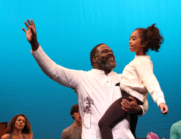 <p>Phillip Boykin and Mia Williamson as Tonton Julian and Little Girl.</p><br />(© David Gordon)