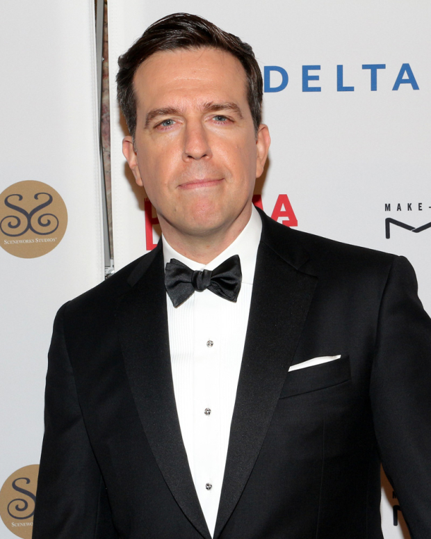 <p>Ed Helms poses for a photo on his way into the event.</p><br />(© David Gordon)