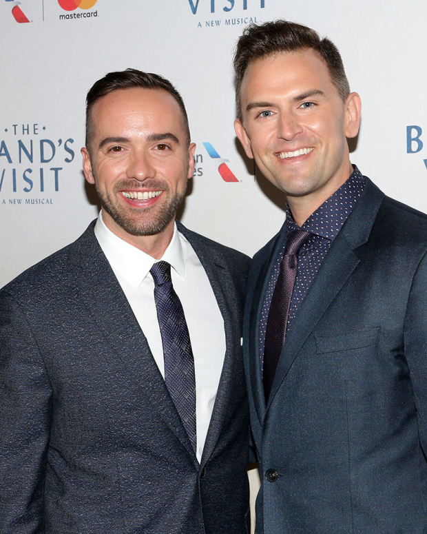 <p>Choreographer Patrick McCollum poses with boyfriend Daniel Reichard.</p><br />(© David Gordon)