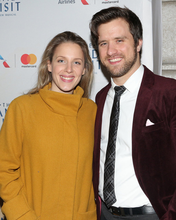 <p>It&#39&#x3B;s date night for Jessie Mueller and Andy Truschinski.</p><br />(© David Gordon)