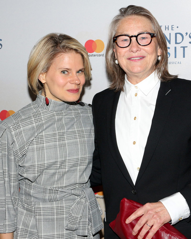<p><em>The Glass Menagerie</em> costars Celia Keenan-Bolger and Cherry Jones have a night out.</p><br />(© David Gordon)