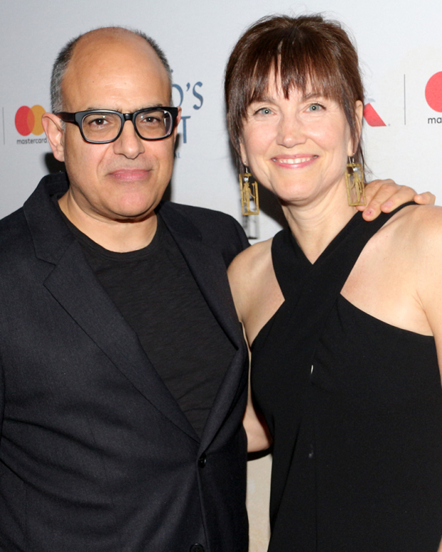 <p><em>The Band&#39&#x3B;s Visit</em> composer David Yazbek poses with his wife, Elizabeth.</p><br />(© David Gordon)