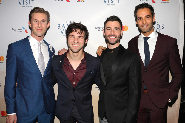 <p>Bill Army, Etai Benson, Adam Kantor, and Jonathan Raviv are featured in <em>The Band&#39&#x3B;s Visit</em> on Broadway.</p><br />(© David Gordon)