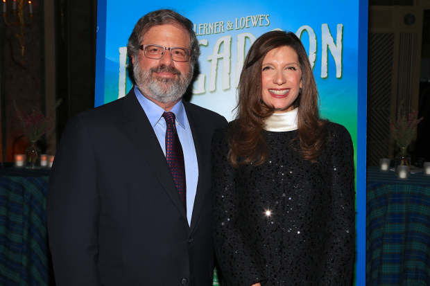 <p>New York City Center Board of Directors cochairmen Richard E. Witten and Stacey Mindich had big smiles for the evening.</p><br />(© Tricia Baron)