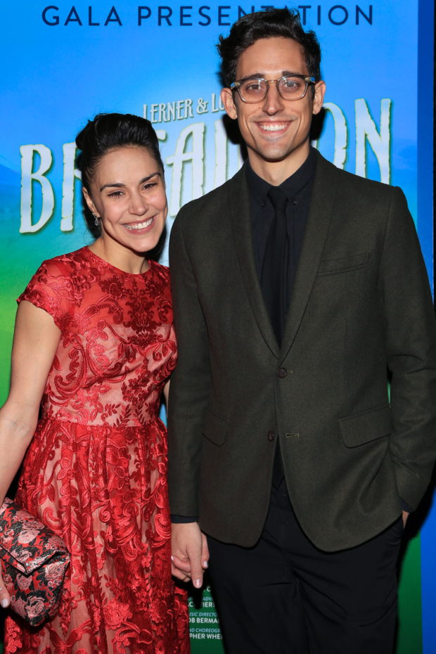 <p><em>Brigadoon</em> star Patricia Delgado walked the red carpet hand in hand with Justin Peck.</p><br />(© Tricia Baron)