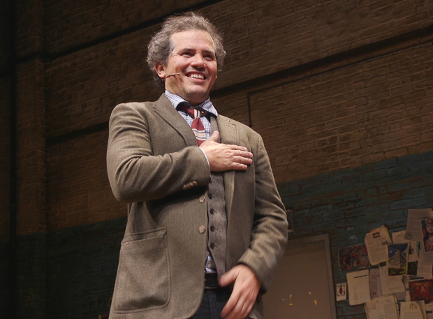 <p>John Leguizamo takes a bow at curtain call.</p><br />(© Seth Walters)