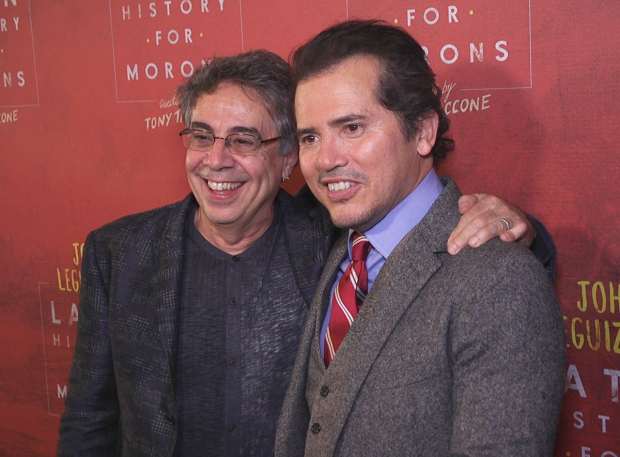 <p>Director Tony Taccone grabs a photo with star John Leguizamo.</p><br />(© Seth Walters)