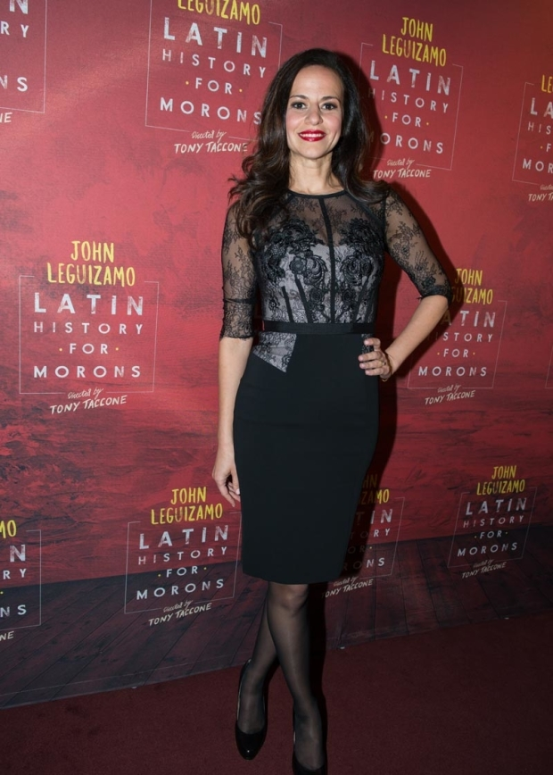 <p>Mandy Gonzalez stunned on the red carpet.</p><br />(© Allison Stock)