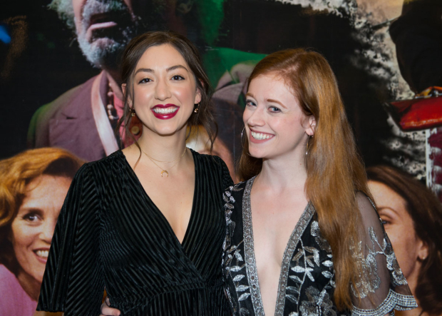 <p>Jenna Dioguardi and Susannah Perkins had big smiles on opening night.</p><br />(© Allison Stock)