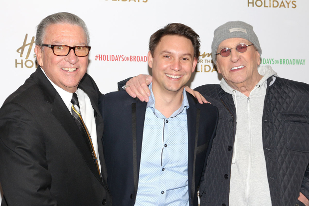 <p>Producer Michael J. Guccione joins director Jonathan Tessero and cast member Danny Aiello at the party.</p><br />(© David Gordon)