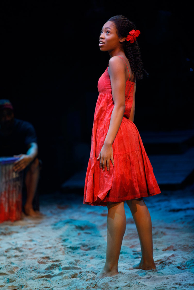 <p>Hailey Kilgore makes her Broadway debut as Ti Moune.</p><br />(© Joan Marcus)