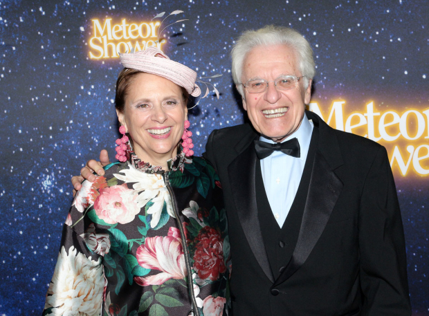 <p><em>Meteor Shower</em> director Jerry Zaks celebrates with his wife, Jill Rose.</p><br />(© David Gordon)