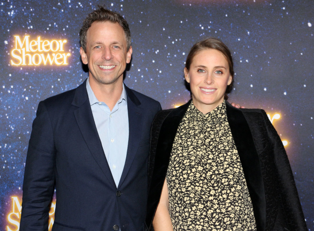 <p>Guests at the performance included Seth Meyers and his wife, Alexi Ashe.</p><br />(© David Gordon)