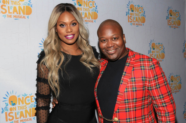 <p>Laverne Cox and Tituss Burgess walked the red carpet.</p><br />(© Tricia Baron)