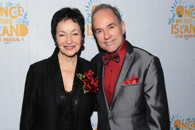 <p>Tony winners Lynn Ahrens and Stephen Flaherty were excited for another milestone Broadway opening.</p><br />(© Tricia Baron)