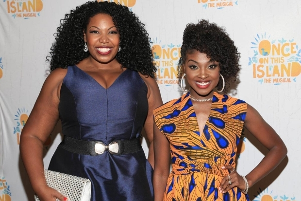 <p>Storytellers Aurelia Williams and Loren Lott smiled for the camera.</p><br />(© Tricia Baron)