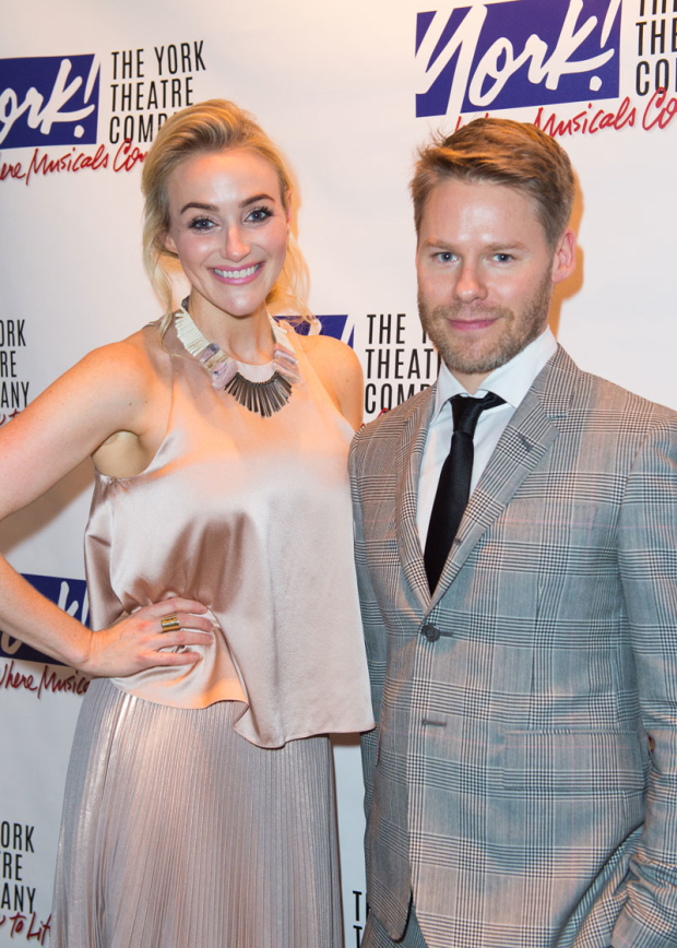 <p>Betsy Wolfe and Randy Harrison get together for a photo.</p><br />(© Allison Stock)