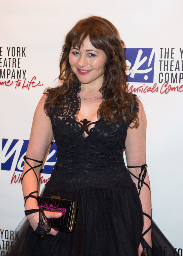 <p><em>Les Misérables</em> star Frances Ruffelle performed.</p><br />(© Allison Stock)