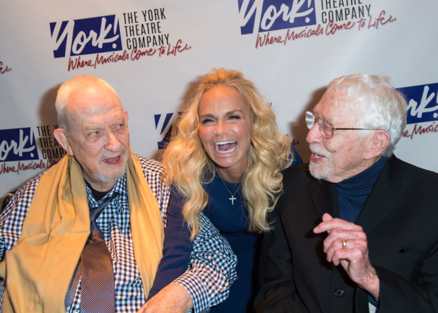 <p><em>The Fantasticks</em> veteran Kristin Chenoweth surprised Harvey Schmidt and Tom Jones.</p><br />(© Allison Stock)