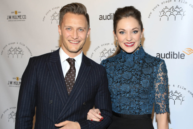 <p>Nathan Johnson and Laura Osnes were out for a pleasant date night.</p><br />(© Tricia Baron)