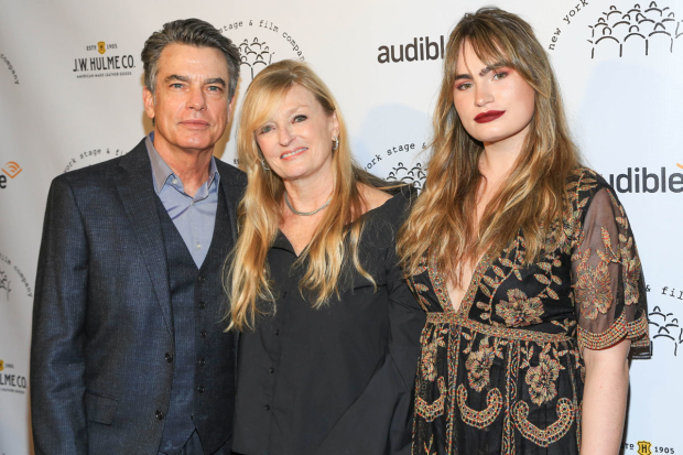 <p>Peter Gallagher was in attendance with spouse Paula Harwood and daughter Kathryn Gallagher.</p><br />(© Tricia Baron)