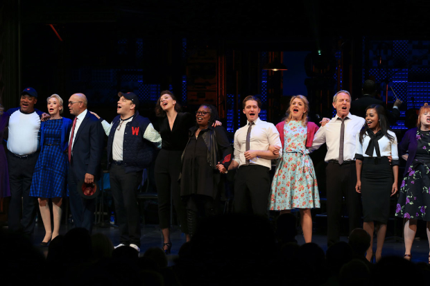 <p>The company takes a bow at curtain call.</p><br />(© Tricia Baron)