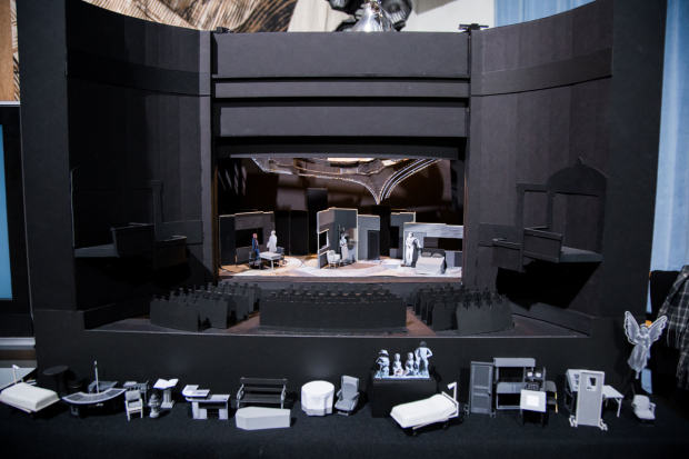 <p>A model of Ian MacNeil&#39&#x3B;s set was on display.</p><br />(photo provided by DKC/O&M)