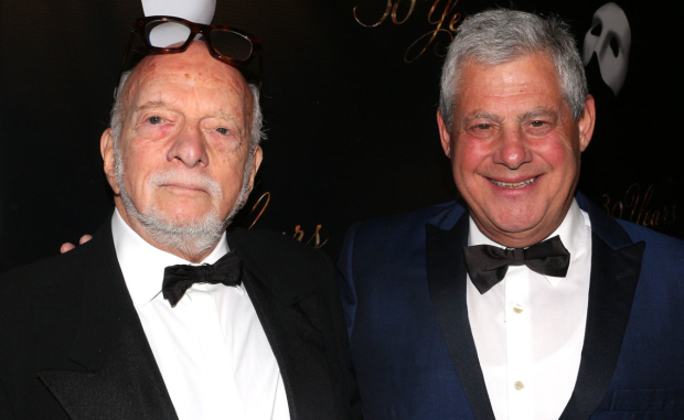 <p>Director Harold Prince and producer Cameron Mackintosh are proud of their milestone.</p><br />(© David Gordon)
