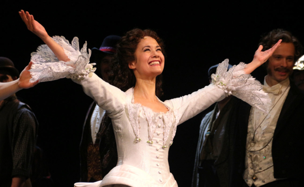 <p>Ali Ewoldt comes out for a curtain call.</p><br />(© David Gordon)